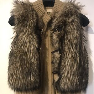 Authentic Michael Kors Faux Fur Vest